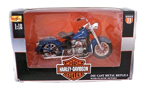 Maisto Harley Davidson 1953 74 FL Hydra Glide Die cast Motorcycle 1:18 scale Series 11