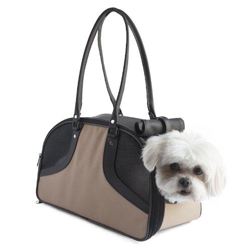 Petote Roxy Pet Carrier Bag, Tan, Large