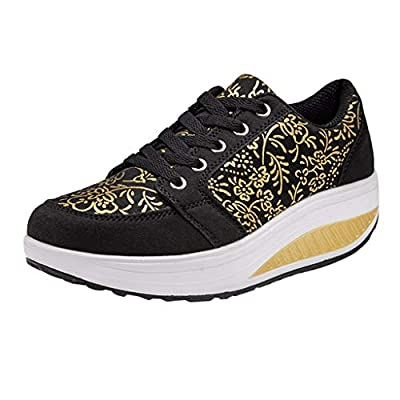 RAINED-Women's Sneakers Fashion Lace Up Breathable Sport Shoes Running Platform Sneakers Lightweight Casual Loafers