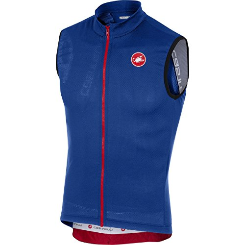 Sleeveless Mens Bike Jersey - Castelli Entrata 3 Sleeveless Full-Zip Jersey - Men's Surf Blue, XL