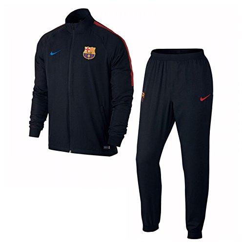 Nike 2017-2018 Barcelona Squad Woven Tracksuit (Black)