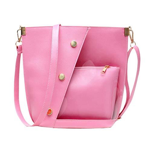 Price comparison product image Rivet Translucent Crossbody Bags,  Women Shoulder Bags Messenger Bags Purse and Handbags (Pink)