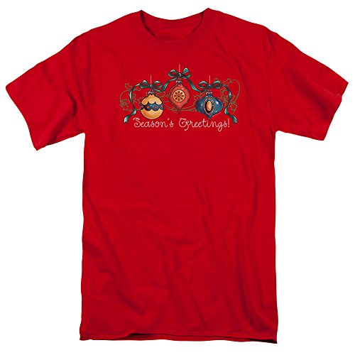 (Trevco Ornaments - S/S Adult 18/1 - Red - 3X)