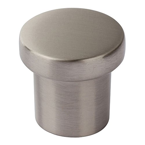 (Atlas Homewares A911-BN Chunky Collection 1 Inch Small Round Knob, Brushed Nickel)