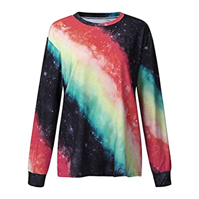 Women's Colorblock Tie Dye Sweatshirts Long Sleeve Crewneck Oversized Shirts Casual Loose Pullover Tops Chaofanjiancai at  Women's Clothing store