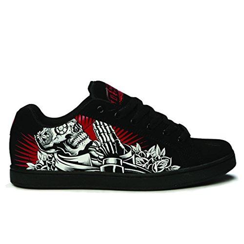 Osiris Skateboard Shoe (Osiris Men's Troma Redux Skate Shoe, Deadman/Red, 10 M US)