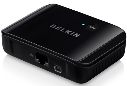 Belkin Smart TV Link Universal WLAN Internet Adapter (1 Port) schwarz