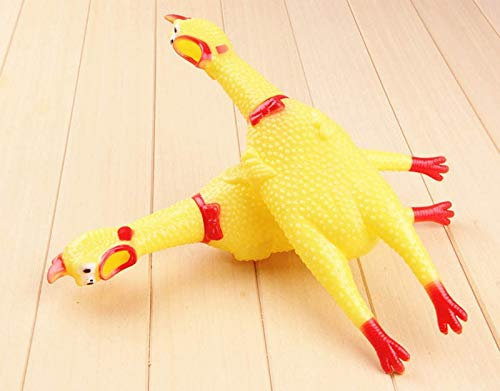 New Year - Yellow Squeak Toys Screaming Rubber Chicken Pets Kids Birthday Party Decorations Toy Halloween Clown - s Backdrops Flags Zodiac Mini Clothes Balloons Onesie Years -
