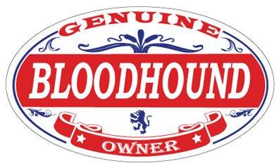 Bloodhound Oval Sticker ()