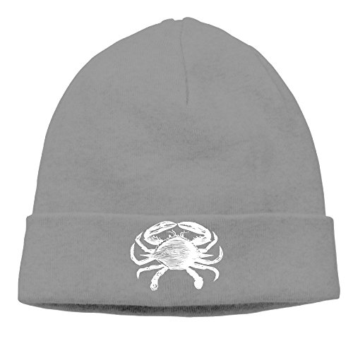vintage-animal-illustration-crab-mens-cool-beanie-knit-slouchy-hat-cap
