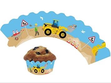 12 Baustelle Cupcake Deko Banderolen Von Dh Konzept