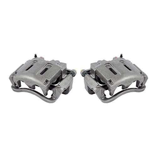 CKOE01173 [ 2 ] FRONT Premium Grade OE Semi-Loaded Caliper Assembly Pair Set by Callahan Brake Parts