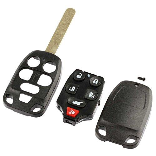 Honda Odyssey Uncut Key - Key Fob Keyless Entry Uncut Remote Shell Case & Pad fits 2011-2013 Honda Odyssey