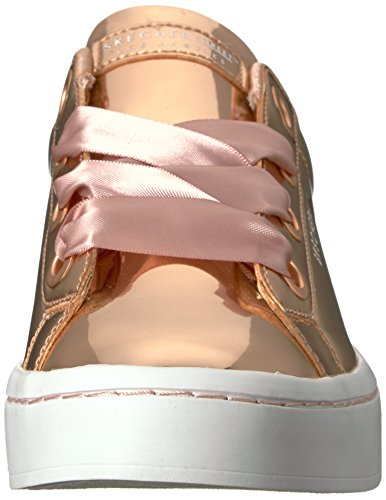 Hi para Mujer Zapatillas Skechers Lite Gold Dorado Bling Rose Liquid gnAUd