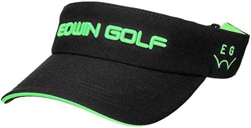 [해외]에드윈 골프 챙 폴리에스터 트윌 바이 저 남성 EDV1936 / Edwin Golf Visor Polyester Twill Visor Men`s EDV1936