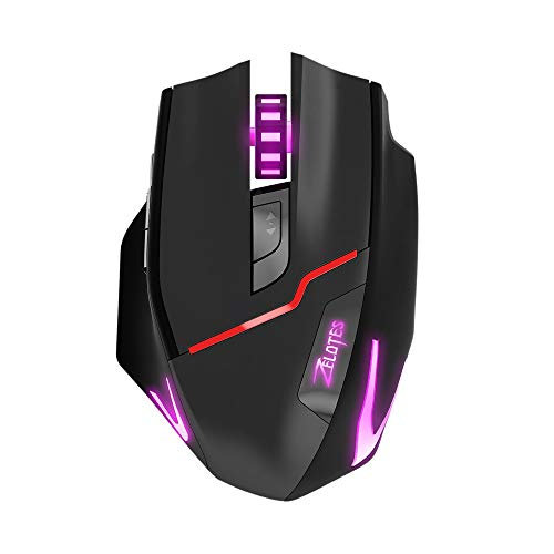 Cimaybeauty ZELOTES F-18 Dual-Mode Gaming Mouse6 Level 3200DPI 500Hz Wired/Wireless 7 Color