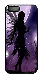 Covers Gothic Fairies HAC1014272 Custom PC Hard Case Cover for iPhone 5/5S Black