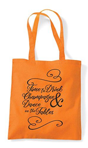 Natural Time Tables Shopper To Hen On Drink Customised The Tote Party And Bag Dance znnO6xw