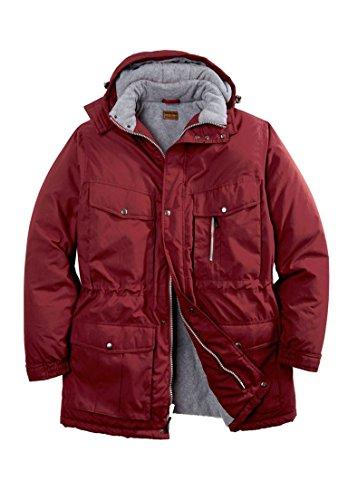 Hooded Boulder Cloth Jacket (Boulder Creek Men's Big & Tall Expedition Parka, Rich Burgundy Big-2Xl )