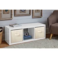 Versatile Better Homes and Gardens 3-Cube Organizer in High Gloss White Lacquer
