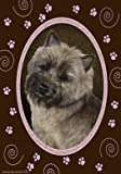 Cairn Terrier Brindle – Tamara Burnett Pink Paws Large Flag