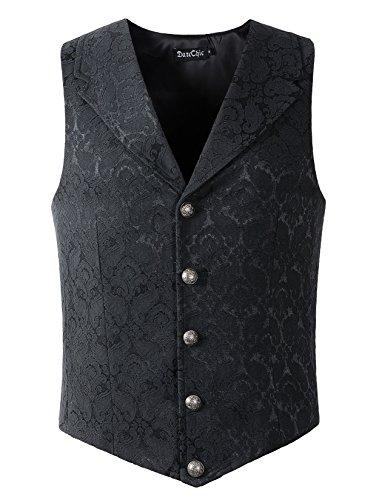 Lapel Vest Waistcoat Steampunk Victorian