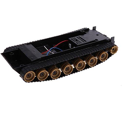 Baosity 3-9V ライトショック スマートロボットタンク カーシャーシキット Arduino 51 130用 DIYサイエンスおもちゃ