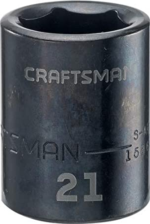 17mm 1//2-Inch Drive CMMT15865 CRAFTSMAN Shallow Impact Socket Metric