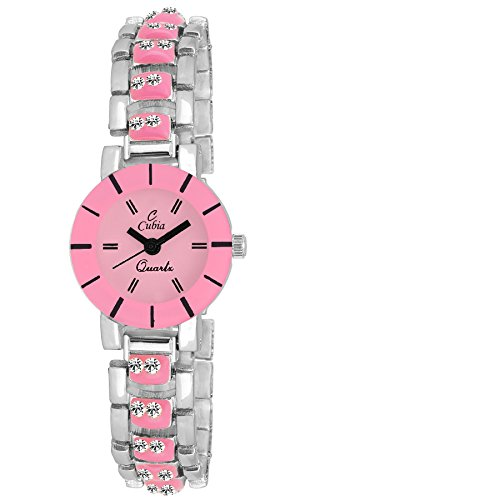 Cubia Cb1207 Special Collection Analog Pink Dial Watch For Girls