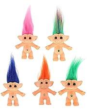 5 Pieces 10cm Nude Troll Lucky Action Figures Toy Pencil Topper Arts and CraftsDauerhaft Nützlich und praktisch Nettes Design Praktisches Design und langlebig