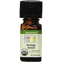Aura Cacia Organic Sweet Supplement, Orange 0.25 Fluid Ounce