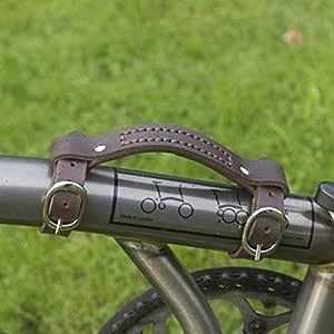 Cuero Mini Manillar para Brompton Mango Bicicleta Bici Marco Carga ...