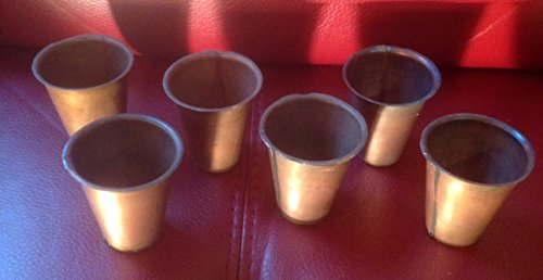 (Southern Charm Market 6 Primitive Brass Sugar Mold Plant or Candle Cups)