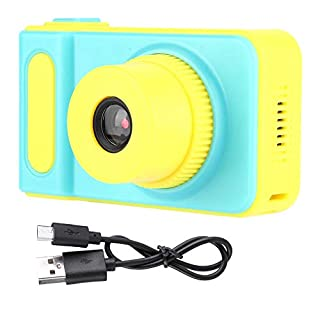"Hoseten Cute Plastic and Metal Kids Digital Camera Children Camera 2.0"" Color Screen for Children, Kids and Birthday Gift(Blue)"