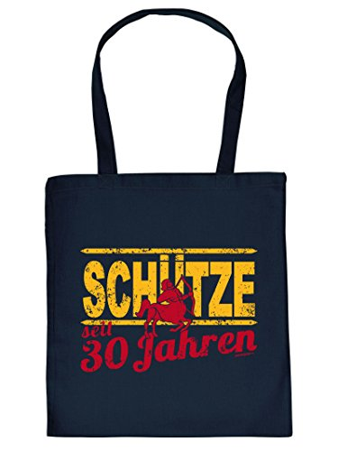 Schütze Tote Bag Henkeltasche Beutel mit Aufdruck Tragetasche Must-have Stofftasche Geschenkidee Fun Einkaufstasche