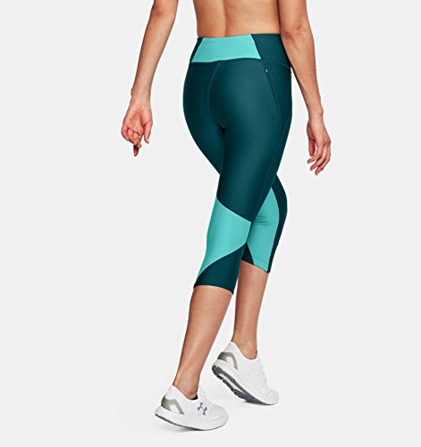 Under Armour Women's Armour Fly Fast Capris, Tourmaline Teal /Reflective, X-Small by Under Armour (Image #4)