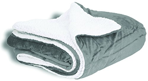Micro Mink Sherpa Throw (Faux Micro Mink Sherpa Blanket with Reversible Soft Lamb Wool- Couch and Bed TV Throw Blanket Extra Large Size 60