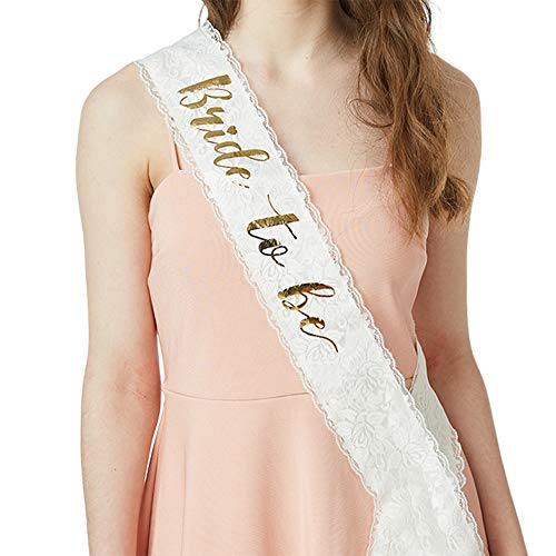YULIPS Bride To Be Sash - Bachelorette Party Sash Bridal Shower Hen Party Wedding Decorations Party Favors Accessories]()