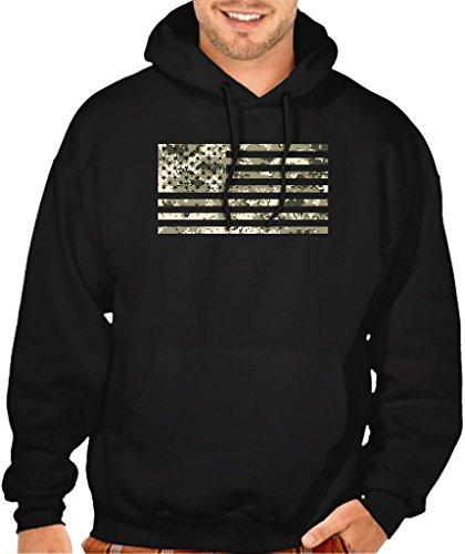 Us Flag Mens Hoodie - 1