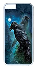 "iPhone 6 Case - Scratch Protection Ultra Slim Fit Hard PolyCarbonate White Plastic Case for Apple iPhone 6 (4.7"") with Pattern: Ravens"