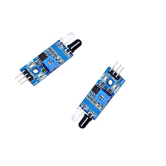 Easy Electronics Ir Proximity Sensor For Line Follower And Obstacle Sensing Robots (2 Pcs)