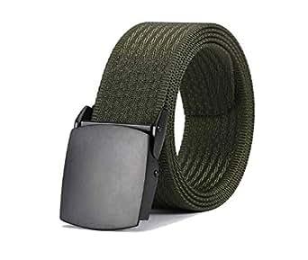 Army Green Nylon Belt For Unisex