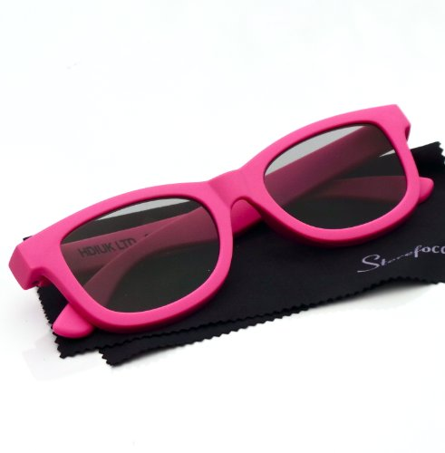 Sterefocals Passive Original TV / Cinema (Movie Theater) 3D Glasses. Adult (Pink)