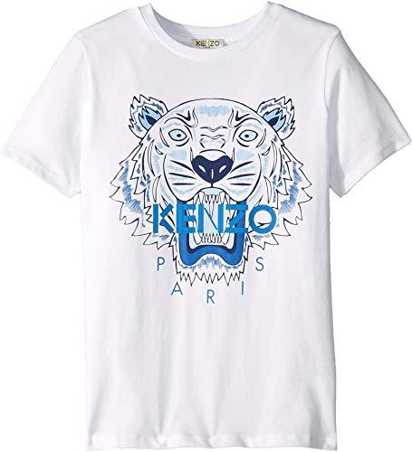Kenzo Kids Boy's Light Tiger Logo Tee (Big Kids) White 8A from Kenzo Kids