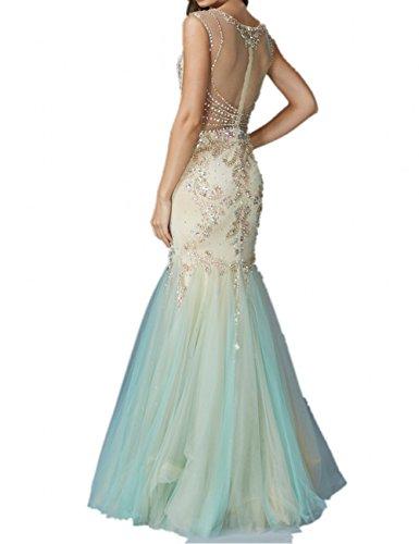 Milano Bride Luxurioes Steine Tuell Abendkleider Partykleider Promkleider  Meerjungfrau Meerjungfrau Still
