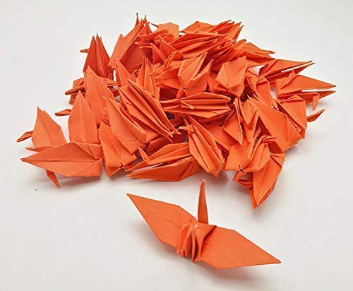 paper size 15 x 15 cm only for USD 50.00+ Code P5 7.5 x 7.5 cm Red Color to 6 x 6 inches 500 Paper Origami Cranes 3 x 3 inches