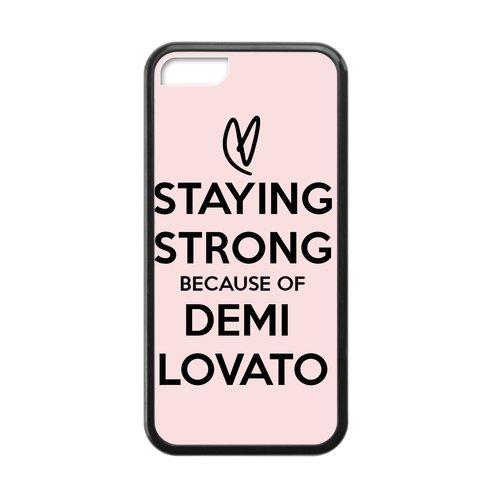 CASECOCO(TM) Demi Lovato Quotes Plastic TPU Case Cover Skin For iphone 5C