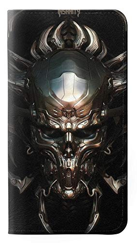 RW1027 Hardcore Metal Skull PU Leather Flip Case Cover for Google Pixel 3a XL