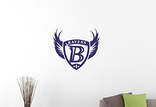 Baltimore Ravens Logo Wall Decal Extreme Sports NFL Sign Vinyl Sticker Home Interior Decorations American Football Team Art Locker Room Bedroom Decor 2br (25