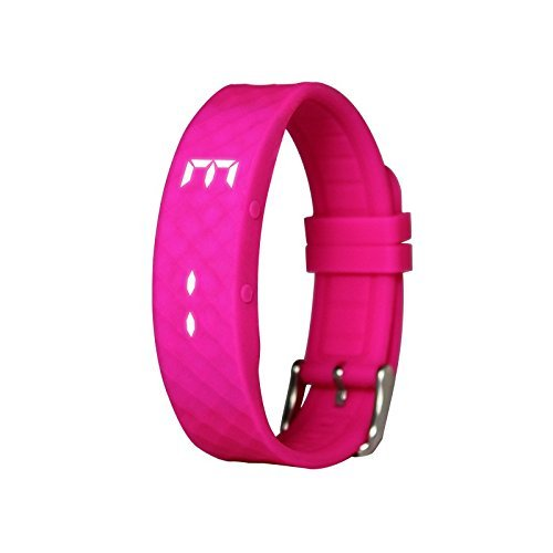 Advista Sports Kids Smart Fitness Band, Silicone Smart Watch, Pedometer for Kids, Boys and Girls, Education Toy (Hot Pink)